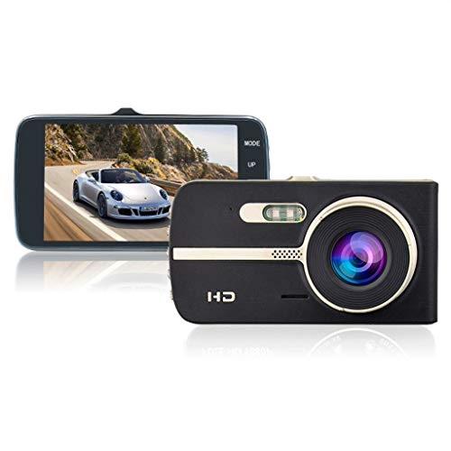 WANG XIN Enregistreur de Conduite 4 Pouces HD Vision Nocturne à Double lentille inversant l'image en Porcelaine Anti-Collision