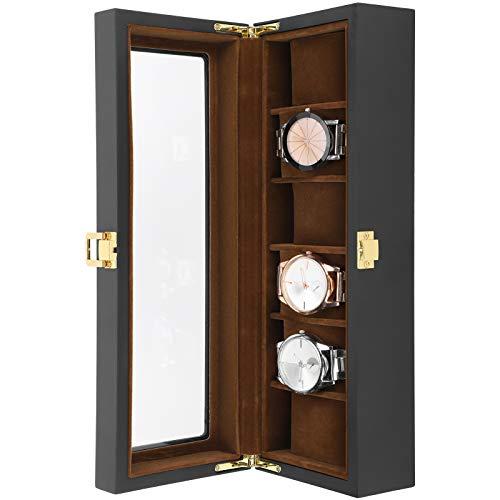 SALUTUY Caja de Reloj de Madera de Madera, Caja de Reloj de diseño reflexivo, coleccionista de Relojes para Hombres
