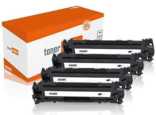 Toner-Empire Premium tonercartridge compatibel met HP CB540A CB541A CB542A CB543A / 125A, printer cartridge voor laserprinter Zwart - K (4-pack)