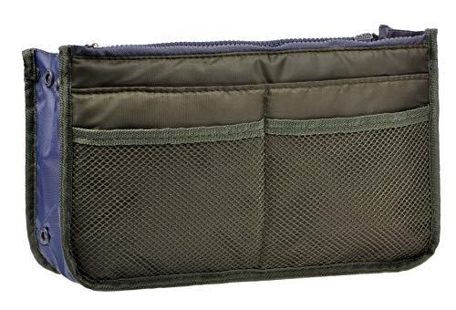 Vercord Purse Organizer Insert for Handbags Bag Organizers Inside Tote Pocketbook Women Nurse Nylon 13 Pockets Army Green Large