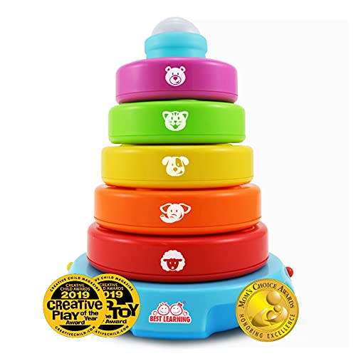 BEST LEARNING Stack & Learn - Educational Activity Toy for Infants Babies Toddlers for 6 Month and up - Ideal Baby Toy Gifts