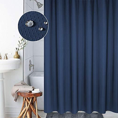 YOUZHIXUAN Espesor de la Cortina Impermeable y Moho Cortina Textura de Panal Tela de poliéster Cortina de Ducha Cortinas de baño, Tamaño: 180 * 180 cm (Azul Oscuro) (Color : Dark Blue)