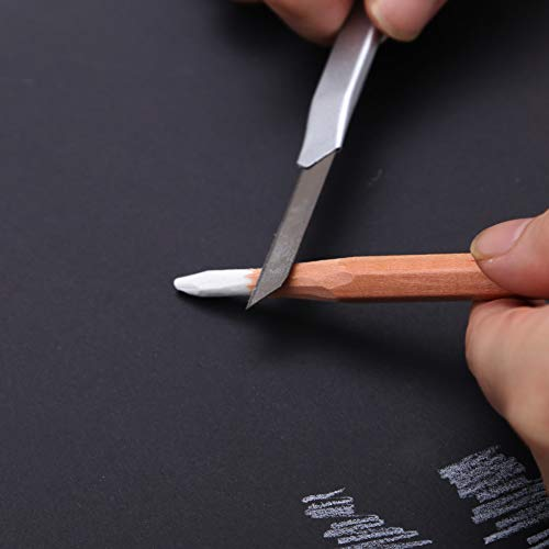 White Charcoal Pencils, 2 Pcs Art Drawing Pencils Set, 6mm Core, Sketching Pencils for Dark or Tinted Paper