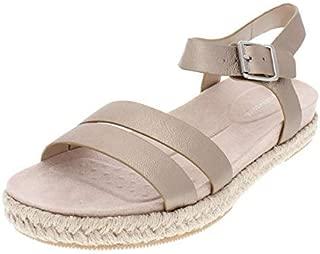 Womens Ixia Leather Open Toe Casual Platform, Bronze, Size 6.0