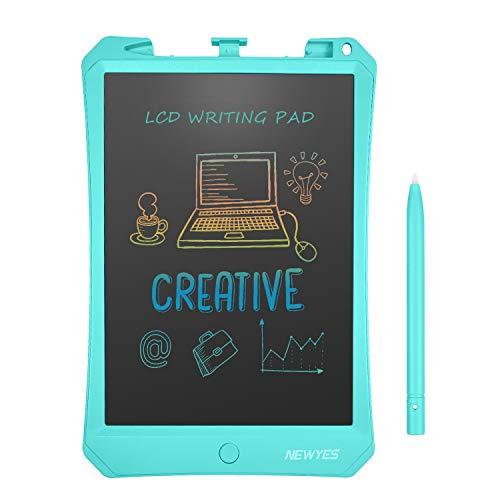 NEWYES Tableta de Escritura LCD de 10, 5 Pulgadas,  Pantalla Colorida,  Bloc de Notas electrónico para niños y Adultos, Adecuada para el hogar,  Escuela,  Oficina (Azul)