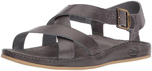 Chaco Women's Wayfarer Sandal, Grey, 6