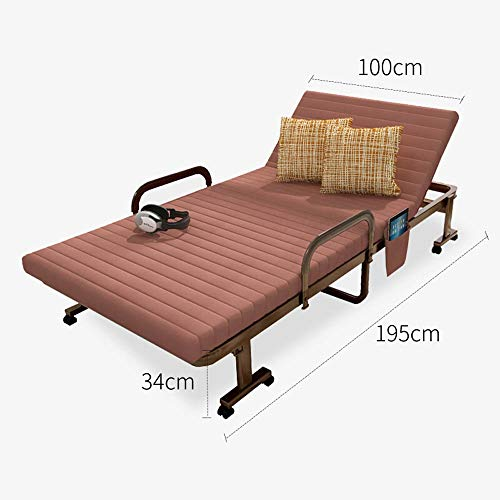HJKH Folding Bed with Armrest Recliner Bed Folding Bed Recliner Bed Accompanying Bed Siesta Bed Included 3 Different Size For Office Cotton Pad Sitting And Lying Folding Bed