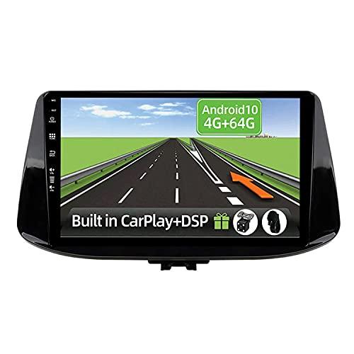 YUNTX Android 10 2 Din Autoradio per Hyundai i30 2017- 4G+64G - [Integrato CarPlay/Android auto/DSP] - Gratuiti 4-LED Camera - Supporto DAB/Controllo del Volante/360 Camera/MirrorLink/Bluetooth 5.0