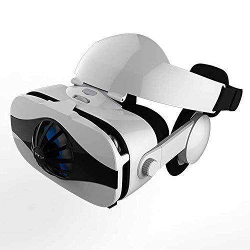 zhangfengjiao Head-mounted VR Bril, VR Virtual Reality 3D Bril Compatibel met IPhone en Android telefoons, Gaming Helmen met koptelefoon en fans
