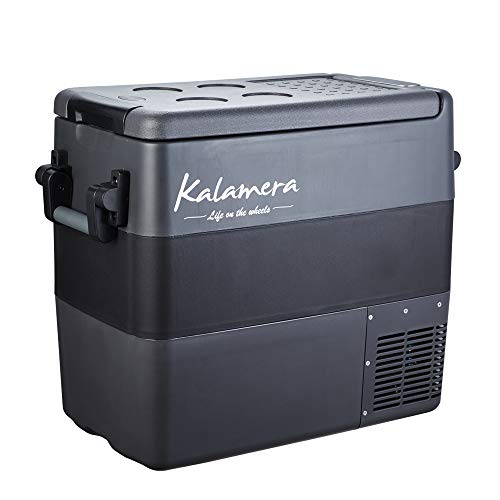 Kalamera Portable Refrigerator - 54-Quart Portable Fridge for Car - 12V Compact Car Fridge - AC and DC Portable Freezer - Outdoor Travel Mini Refrigerator for Camping - Small Portable Mini RV Fridge