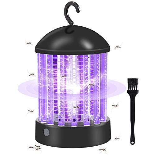 KNMY Zanzariera Elettrica, Lampada Antizanzare Ricaricabile, Lanterna da Campeggio 2 in 1, Zapper Impermeabile per Insetti, per Cucina Soggiorno Camera dei Bambini Esterni