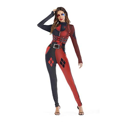 Disfraz De Halloween Europeo Y Americano, Traje Ajustado De Impresin Digital 3D para Mujer, Traje De Rendimiento Elstico Transpirable Europeo Y Americano