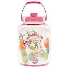 熱湯消毒できる 耐熱 果実酒瓶 R型 4.2L ももいろ