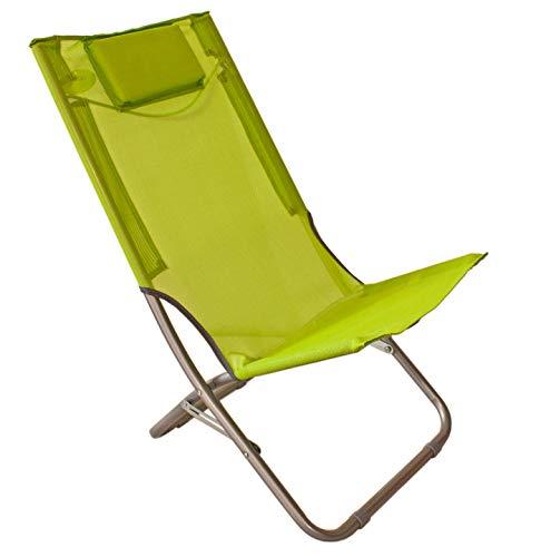 Joy Summer Spiaggina Mare Sedia Sdraio Alta Pieghevole con Cuscino Relax Tessuto 44103