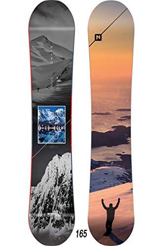 Nitro Snowboards Herren Team Exposure Wide '20 All Mountain Directional Twin Freestyle Board für große Füße Snowboard, mehrfarbig, 165 cm
