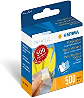 HERMA 1070 naklejek na zdjęcia w dozowniku (12 x 17 mm), samoprzylepne, dwustronne, trwałe naklejki na zdjęcia, 500...