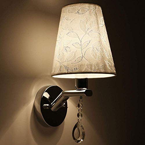 Boutique indoor lighting - Wall Light panno paralume 110V / 220V E14 Sconce Luce for Camera dell'interno lampada da comodino balcone Lighting Fixtures Luminaria metallo ferro Infissi Lantern Decorazio