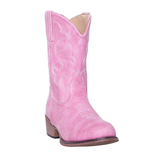 Children Western Cowboy Cowgirl Boot, Monterey by Silver Canyon, Girls, Pink, Size 2