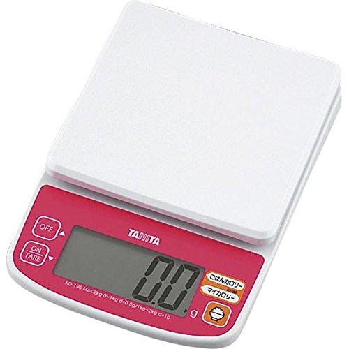 タニタ(TANITA)デジタルクッキングスケール 2kg KD-196 ピンク