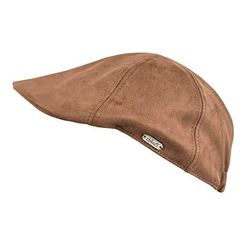 CHILLOUTS Herren & Damen Flatcap Cap Mütze Schiebermütze Schirmmütze Raul Hat (Braun, S-M (55 cm - 57 cm))