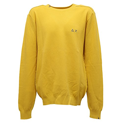 SUN 68 2267T Maglione Bimbo Cotone Giallo Vintage Effect Sweater Kid [16 Years]