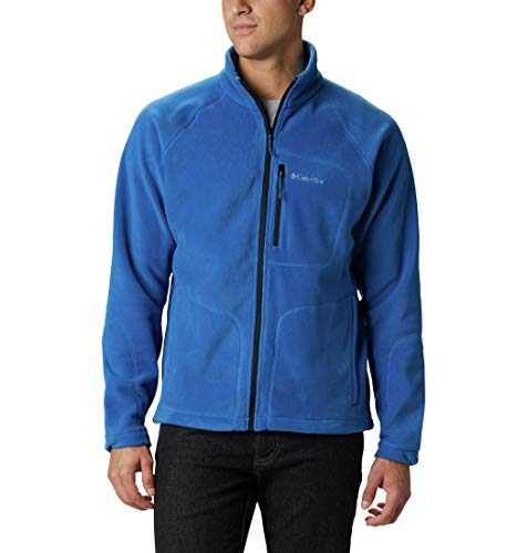 Columbia Men's Fast Trek II Full Zip Fleece Jacket, Collegiate Navy, Small