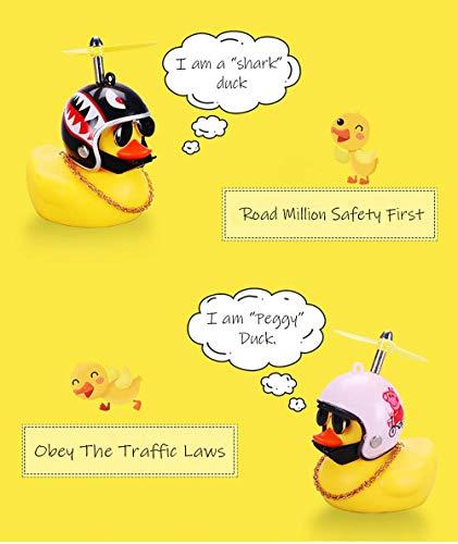 BSGP Auto-Dekoration, kreativ, niedlich, mit Helm, kleine gelbe Ente, Puppe, Auto-Zubehör für Auto, Innendekoration, Fahrräder, Motorräder, Kindergeschenk (Hai) - 4