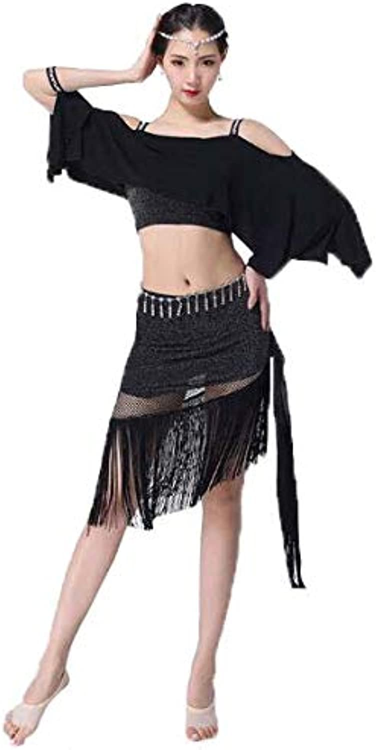Huaishu Women'S Belly Dance Costume Beginner Adult Practice Clothes White Black