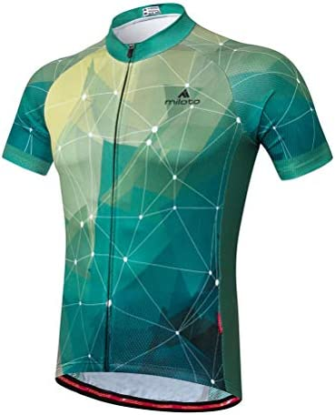 Uriah Men s Cycling Jersey Short Sleeve Reflective Green Stars Size L CN product image