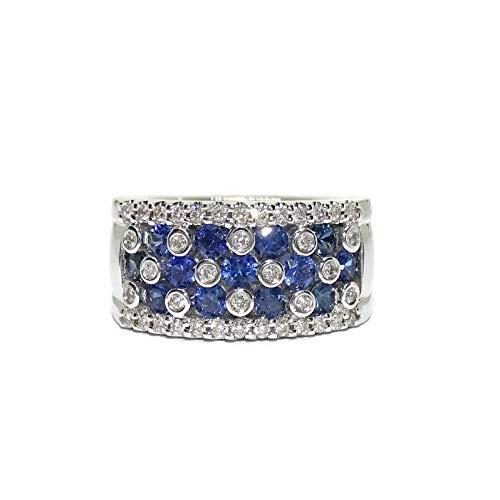 Never Say Never Ring aus 18-karätigem Weißgold mit 0,46 Karat Diamanten und 1,17 Karat Saphiren. 15,9 g 18-karätiges Gold.