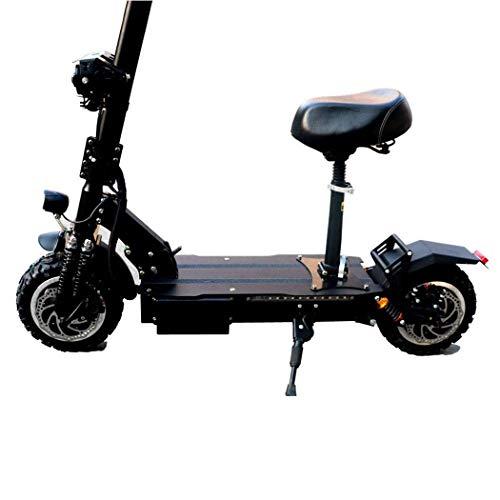 Scooter eléctrico de Alta Potencia de 3200 W para Adultos/Ancianos, Scooter Plegable Inteligente de Doble Rueda con Scooter Recargable de Largo Alcance de 110-130 km, Velocidad máxima de 95 km/h