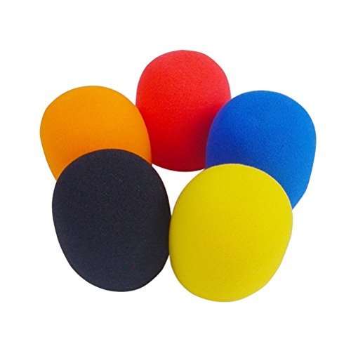 Rosenice Mikrofon-Windschutz aus Schaumstoff, verschiedene Farben, 5Stück