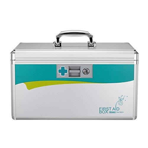 Glosen Medicine Lock Box, Lock Box for Medication 12 x 7.68 x 7.87 Inch
