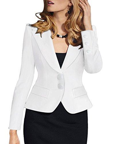 Mujer Elegant Blazers Abrigo OL Casual Cardigans Chaqueta