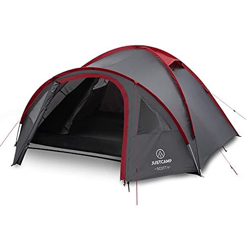 Justcamp Scott 4 Camping Zelt 4 Personen, Iglu Zelt mit...