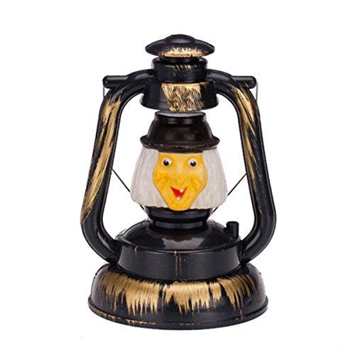 LONGJUAN-C Lámpara LED Luces de Navidad cráneo Colormix 3watts de Halloween Prop Deco Bruja de la Calabaza de la Linterna de Mano portátil de Risa luz Nocturna Ghosty luz no Contiene baterías LED