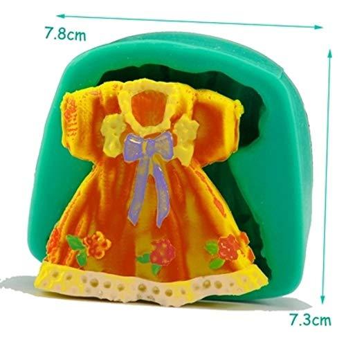 DACCU nieuwe aankomst kinder jurk silicone fondant taart vormen chocolade zeep vorm cookies cupcake gereedschappen keuken bakken harsvorm F0390QZ30