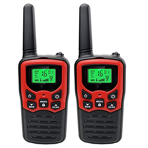 Radtel Walkie Talkie Long Range for Adults/Kids 22 Channels FRS Radios with VOX Scan LCD Display LED Flashlight for Outdoor Hunting Hiking Camping
