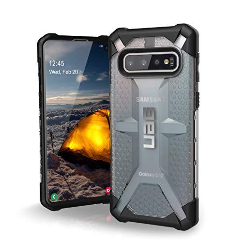 Urban Armor Gear Plasma Hülle für Samsung Galaxy S10 nach US-Militärstandard [Qi kompatibel, Sturzfest, Verstärkte Ecken] - transparent