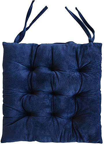 Seat Cushion For Chair Silla de Oficina cojín del Asiento, Casa del Estudiante Invierno Gruesa Alfombrilla Antideslizante Cena la Silla del Amortiguador de Asiento de Coche (Color : Blue)