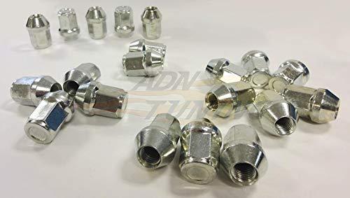 ADNAuto 3700827015450 20 Ecrous Coniques Fermes 12 X 150-L2 32Mm-Cle 19