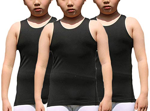 LANBAOSI Boy's 3 Pack Compression Sleeveless Shirt Soccer Training Kids Tank Top Undershirts