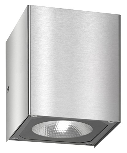LCD Up & Down Wandleuchte LED mit Reflektor 866lm 7 Watt 2x LED Edelstahl Edelstahl Floatglas