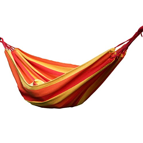 Hamacs Double épais Toile Camping étudiant dortoir Jardin Loisirs Jardin et Patio (Color : Red Yellow, Size : 280cm/110.2inch)