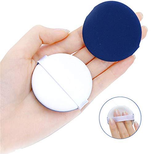 スポンジパフセット メイクスポンジパフ 多機能 BBクリームファンデーション 化粧パフ エアパフ エアクッションパフ フェイシャル 美容ツール 化粧道具 (ブルー)