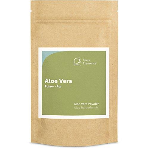 Terra Elements Aloe Vera Pulver, 100 g I Aloe Barbadensis I Kumari Churna I 100% rein I Vegan I Rohkost