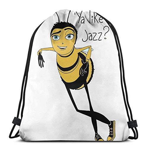 XCNGG Bee Movie Ya Like Jazz Sport Bag Gym Sack Mochila con cordón