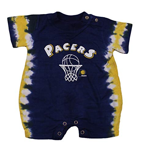 Indiana Pacers NBA Baby Boys Infants Newborn Tie Dye Jersey Romper, Navy (18 Months)