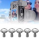 DAUERHAFT Tornillo de Placa de liberación rápida 0.4 x 2.6 x 2.0 Pulgadas, para Accesorios de cámara
