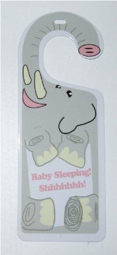 Elephant Baby Sleeping Shhhhhhh Tin Fresno Mall Knob trend rank Hanger Nursery for Door